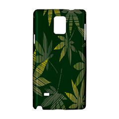 Marijuana Cannabis Rainbow Love Green Yellow Leaf Samsung Galaxy Note 4 Hardshell Case by Mariart