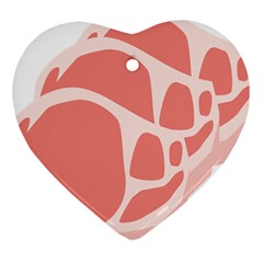 Meat Heart Ornament (two Sides) by Mariart