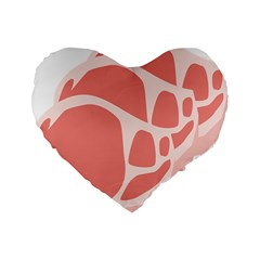Meat Standard 16  Premium Flano Heart Shape Cushions by Mariart
