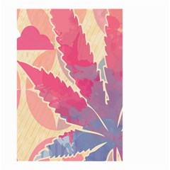 Marijuana Heart Cannabis Rainbow Pink Cloud Small Garden Flag (two Sides) by Mariart