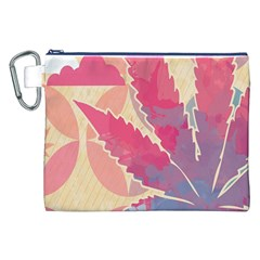 Marijuana Heart Cannabis Rainbow Pink Cloud Canvas Cosmetic Bag (xxl) by Mariart