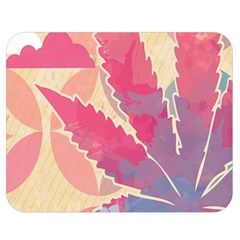 Marijuana Heart Cannabis Rainbow Pink Cloud Double Sided Flano Blanket (medium)  by Mariart