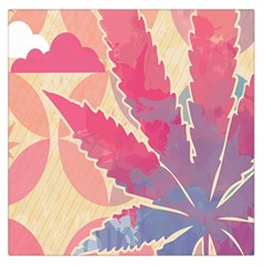 Marijuana Heart Cannabis Rainbow Pink Cloud Large Satin Scarf (square) by Mariart