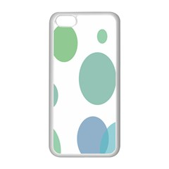 Polka Dots Blue Green White Apple Iphone 5c Seamless Case (white) by Mariart