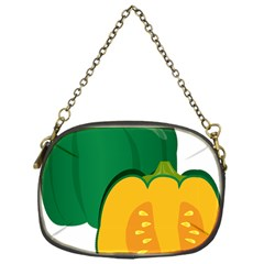 Pumpkin Peppers Green Yellow Chain Purses (one Side)  by Mariart