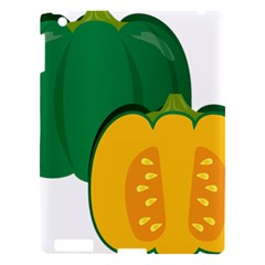 Pumpkin Peppers Green Yellow Apple Ipad 3/4 Hardshell Case by Mariart
