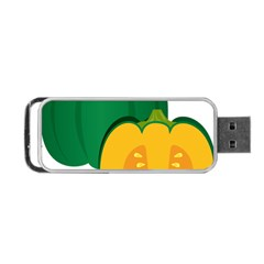 Pumpkin Peppers Green Yellow Portable Usb Flash (two Sides) by Mariart