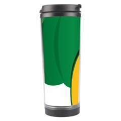 Pumpkin Peppers Green Yellow Travel Tumbler by Mariart