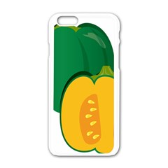 Pumpkin Peppers Green Yellow Apple Iphone 6/6s White Enamel Case by Mariart