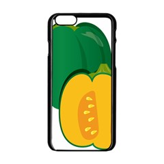 Pumpkin Peppers Green Yellow Apple Iphone 6/6s Black Enamel Case by Mariart