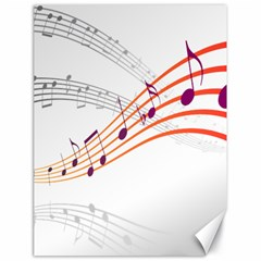 Musical Net Purpel Orange Note Canvas 18  X 24   by Mariart