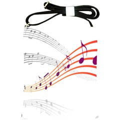 Musical Net Purpel Orange Note Shoulder Sling Bags by Mariart