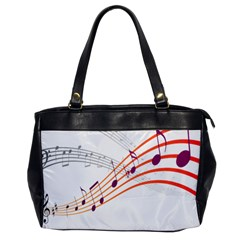 Musical Net Purpel Orange Note Office Handbags by Mariart