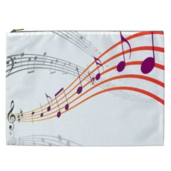 Musical Net Purpel Orange Note Cosmetic Bag (xxl)  by Mariart