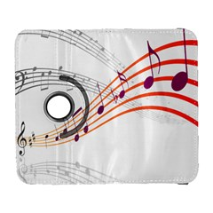 Musical Net Purpel Orange Note Galaxy S3 (flip/folio) by Mariart