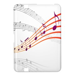 Musical Net Purpel Orange Note Kindle Fire Hd 8 9  by Mariart