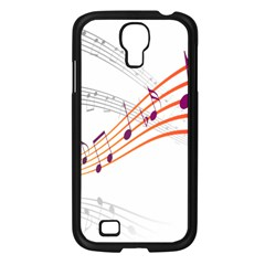 Musical Net Purpel Orange Note Samsung Galaxy S4 I9500/ I9505 Case (black) by Mariart