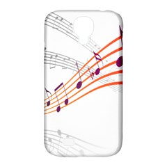 Musical Net Purpel Orange Note Samsung Galaxy S4 Classic Hardshell Case (pc+silicone) by Mariart