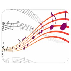 Musical Net Purpel Orange Note Double Sided Flano Blanket (medium)  by Mariart