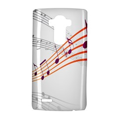 Musical Net Purpel Orange Note Lg G4 Hardshell Case by Mariart