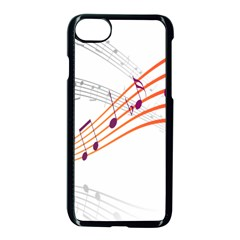 Musical Net Purpel Orange Note Apple Iphone 7 Seamless Case (black) by Mariart