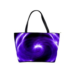 Purple Black Star Neon Light Space Galaxy Shoulder Handbags by Mariart