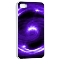 Purple Black Star Neon Light Space Galaxy Apple Iphone 4/4s Seamless Case (white) by Mariart