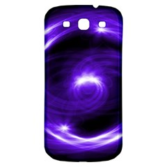 Purple Black Star Neon Light Space Galaxy Samsung Galaxy S3 S Iii Classic Hardshell Back Case by Mariart