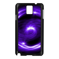 Purple Black Star Neon Light Space Galaxy Samsung Galaxy Note 3 N9005 Case (black) by Mariart