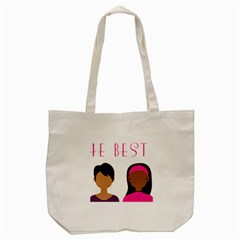 Black Girls Be The Best You Tote Bag (cream) by kenique