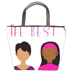 Black Girls Be The Best You Bucket Bags by kenique