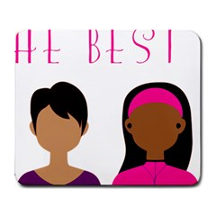 Black Girls Be The Best You Large Mousepads by kenique