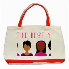 Black Girls Be The Best You Classic Tote Bag (red) by kenique