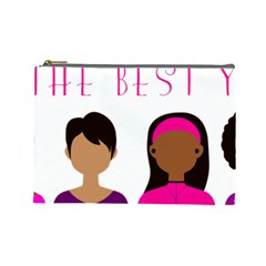 Black Girls Be The Best You Cosmetic Bag (large)  by kenique