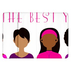 Black Girls Be The Best You Samsung Galaxy Tab 8 9  P7300 Flip Case by kenique