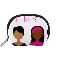 Black Girls Be The Best You Accessory Pouches (small)  by kenique
