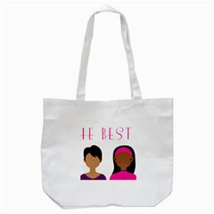 Black Girls Be The Best You Tote Bag (white) by kenique