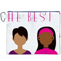 Black Girls Be The Best You Canvas Cosmetic Bag (xxxl) by kenique