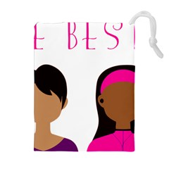 Black Girls Be The Best You Drawstring Pouches (extra Large) by kenique