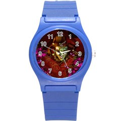 Wonderful Venetian Mask With Floral Elements Round Plastic Sport Watch (s) by FantasyWorld7