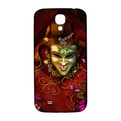 Wonderful Venetian Mask With Floral Elements Samsung Galaxy S4 I9500/i9505  Hardshell Back Case by FantasyWorld7