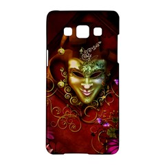 Wonderful Venetian Mask With Floral Elements Samsung Galaxy A5 Hardshell Case  by FantasyWorld7
