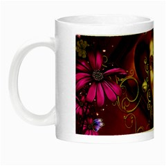 Wonderful Venetian Mask With Floral Elements Night Luminous Mugs by FantasyWorld7
