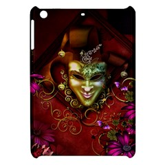 Wonderful Venetian Mask With Floral Elements Apple Ipad Mini Hardshell Case by FantasyWorld7