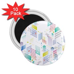Layer Capital City Building 2 25  Magnets (10 Pack)  by Mariart