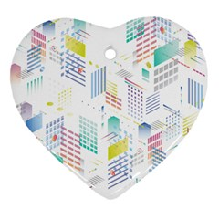 Layer Capital City Building Heart Ornament (two Sides) by Mariart
