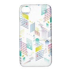Layer Capital City Building Apple Iphone 4/4s Hardshell Case With Stand by Mariart