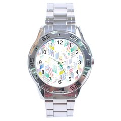 Layer Capital City Building Stainless Steel Analogue Watch by Mariart