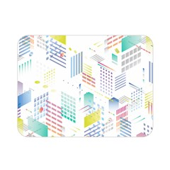 Layer Capital City Building Double Sided Flano Blanket (mini)  by Mariart