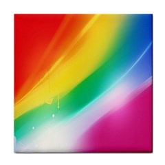 Red Yellow White Pink Green Blue Rainbow Color Mix Tile Coasters by Mariart
